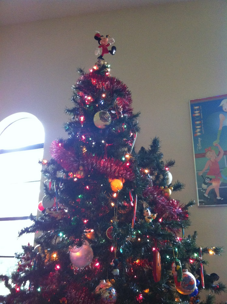 my mickey mouse christmas tree