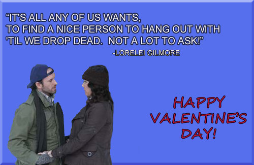 Gilmore Girls Valentines Day Cards Adventures with Jen Cook – Valentines Cards for Girls